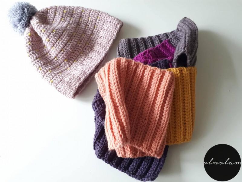 Háčkovaná čiapka a šál - návod