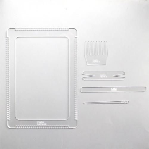 tkáčsky stav z plexiskla 21 x 30 cm