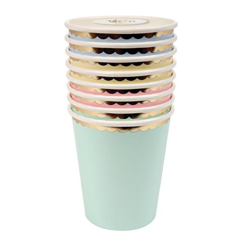 pastelové party poháre