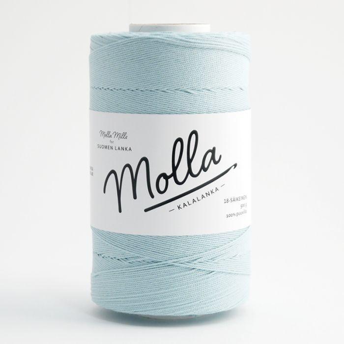 molla mills priadza 18 ply - misty blue