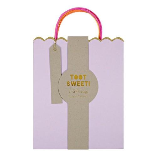 darčeková taška pastel/neon 3 ks
