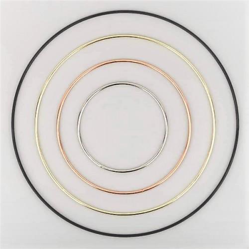 kovový kruh zlatý/strieborný/čierny/ružové zlato
