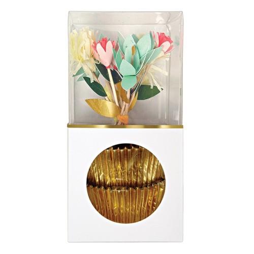 sada na cupcake kvety