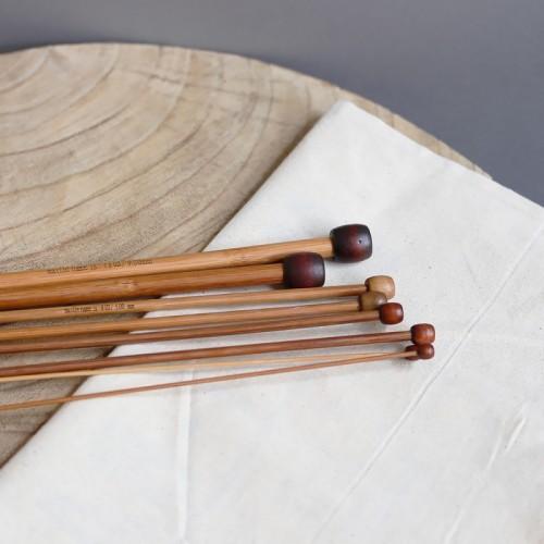 drevené ihlice na štrikovanie 35 cm