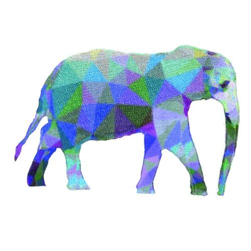 nažehlovačka slon prisma