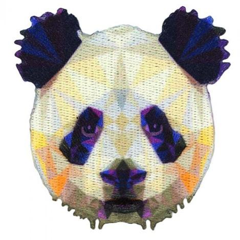 iron-on applique panda prisma
