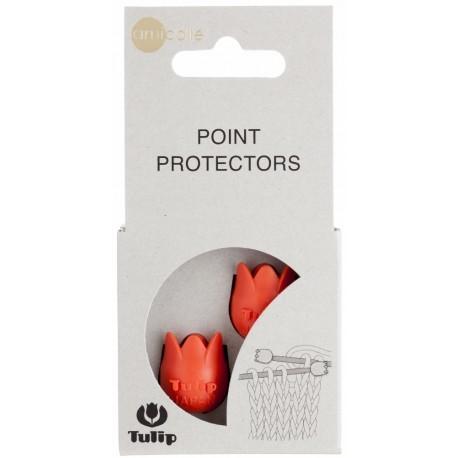 chrániče na 4 – 6.5 mm ihlice tulip viac farieb - oranžové tulip chrániče na ihlice